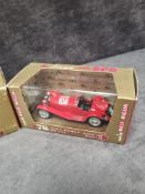 3x Brumm Revival diecast vehicles in display boxes and outer box. Comprising of; #r77 Alfa Romeo