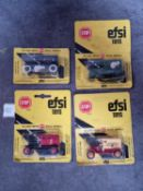 EFSI (Holland) Diecast Metal Models Set Of 4 x Comprising #MT7 1/64 T FORD 1919 ROYAL MAIL # 806