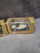 3x Brumm Revival diecast vehicles #r102 Jaguar 3.5 Litri HP 160 1948 in display boxes and outer