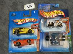 4 x Hot Wheels Diecast Cars On Unopened Bubble Card, Comprising Of; 2004 First Editions #012 12/