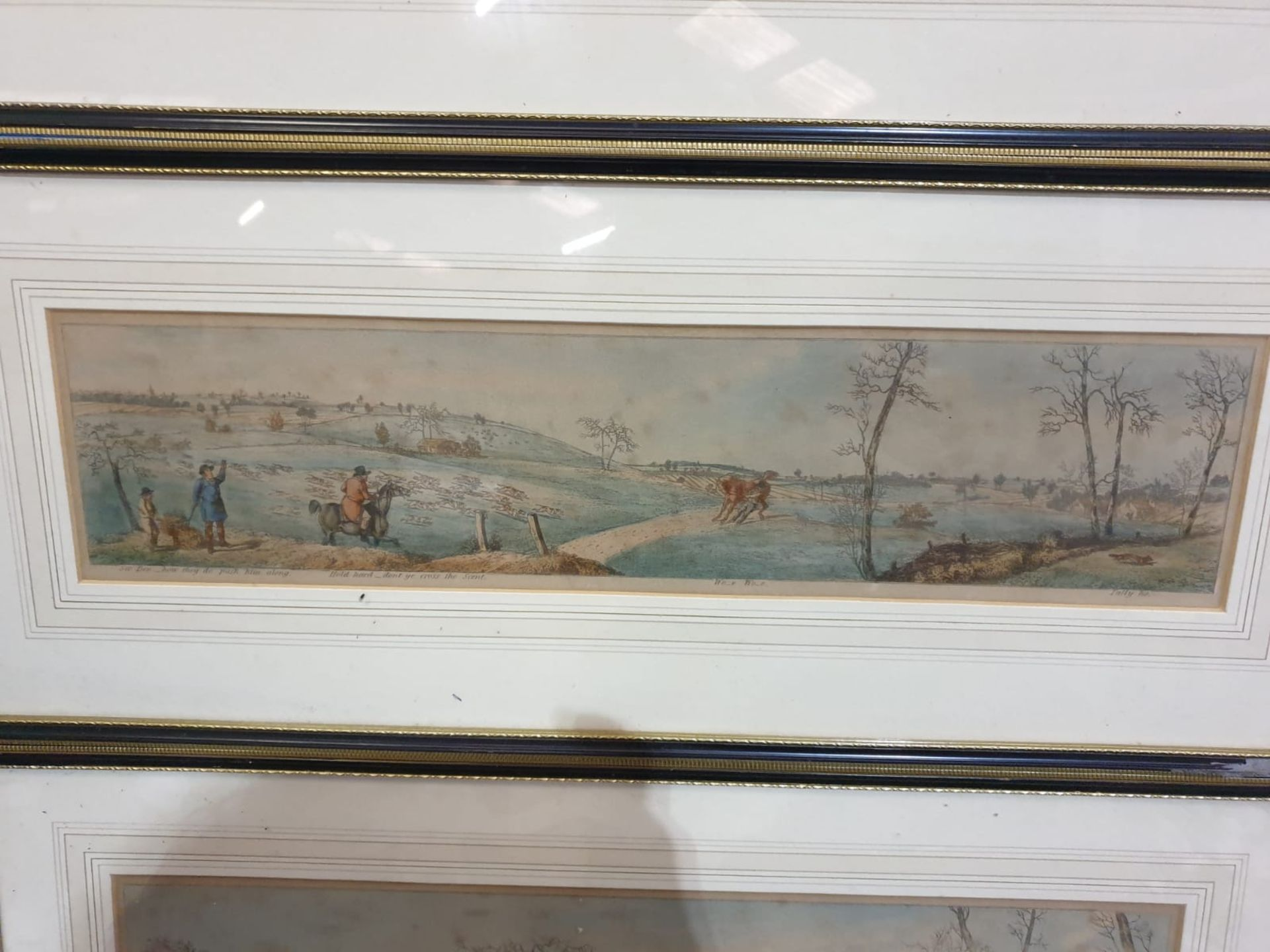 A set of 3 framed coloured panorama Hunters prints titled Stop at anything, Wo-e Wo-e and Some - Image 3 of 4