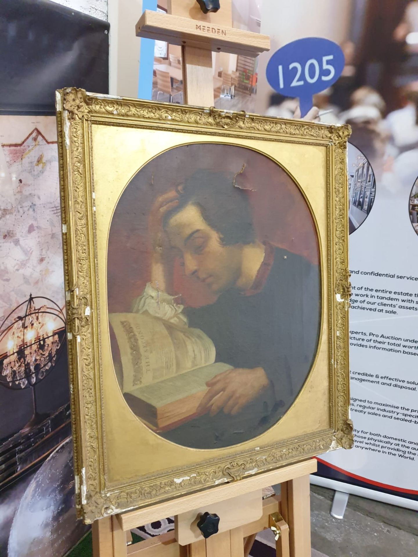 Portrait of a Man Reading a Book Unknown artist Portrait of a Man Reading a Book Oil on canvas Not - Image 2 of 3