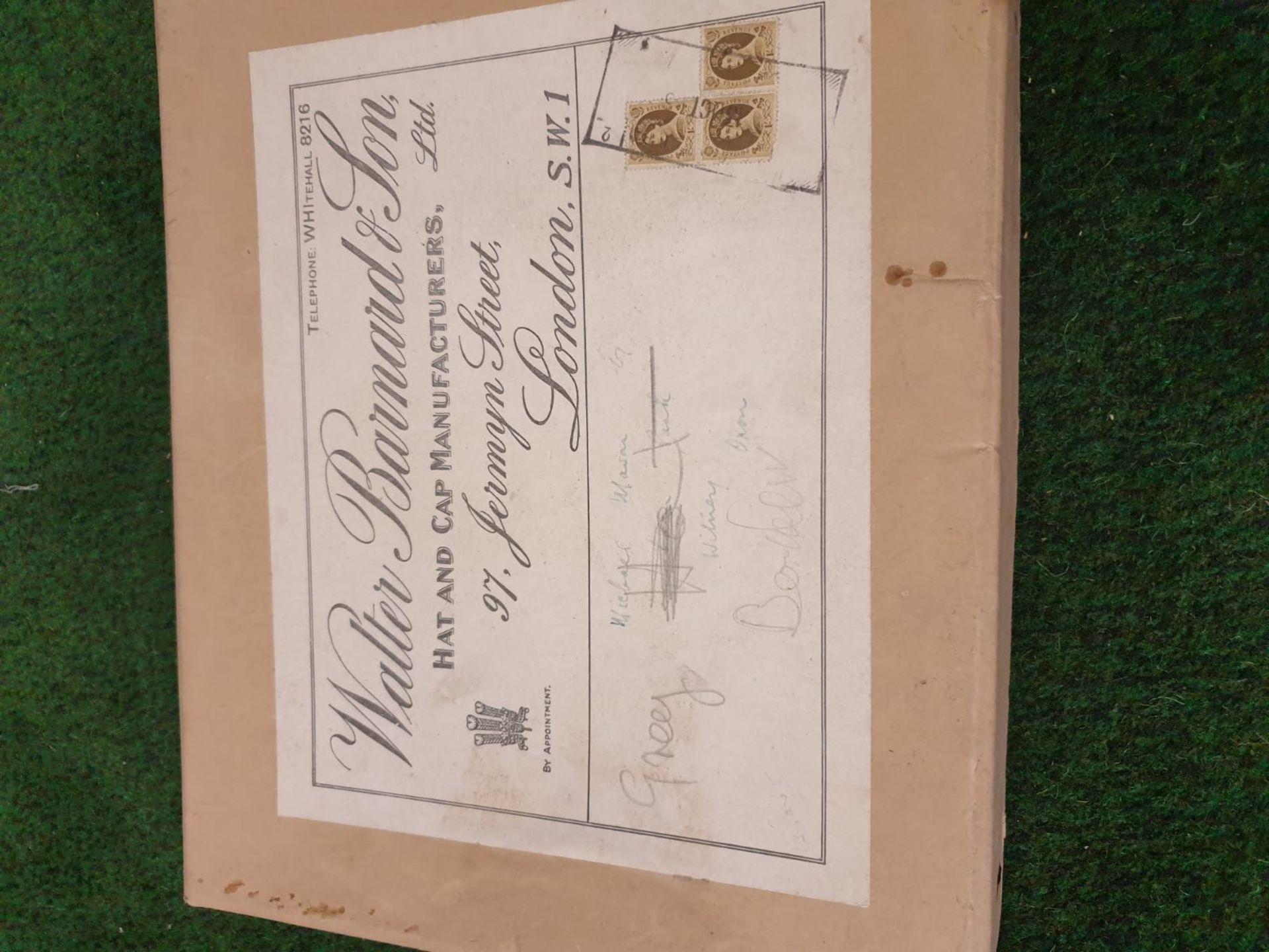 Walter Barnard & Son of Jermyn Street London Grey Bowler hat with cardboard box - Image 4 of 4