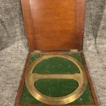 RAF Brass, 360 degree, circular Protractor with crossbar, a scientific drawing instrument in its