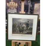 Framed print Abraham Bruiningh van Worrell (active 1809-49) - The Last Shooting Party of