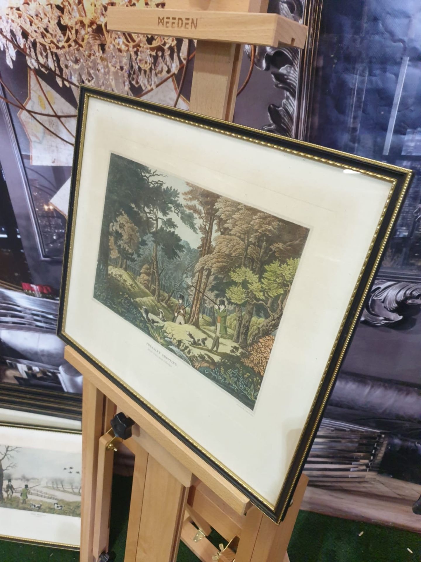 Framed vintage aquatint Pheasant Shooting. Black Park near Uxbridge. HAVELL Jr., Robert. - Image 4 of 6