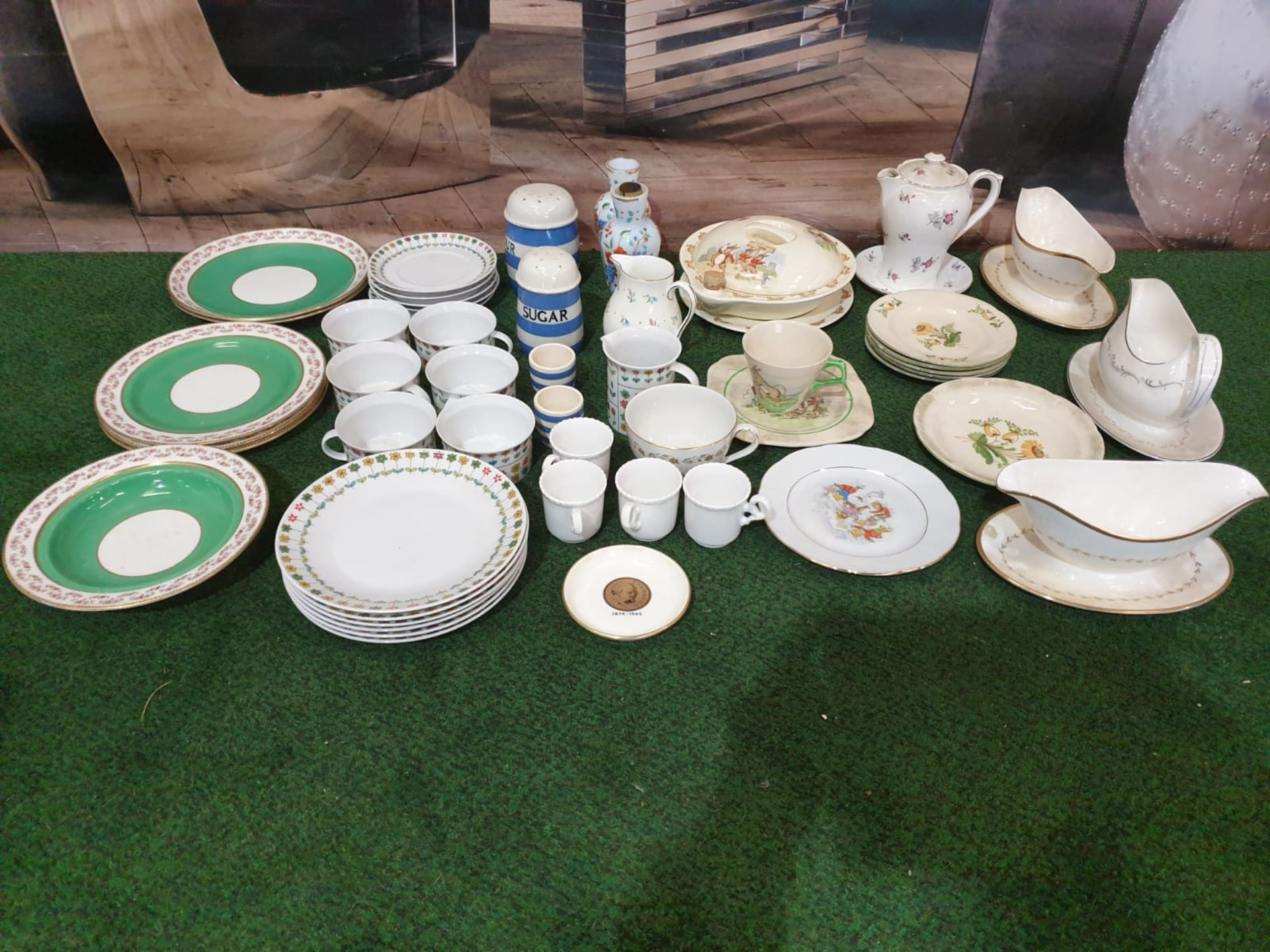 A Large quantity of tableware various patterns and manufacturers including Royal Doulton, Shelley, H