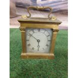 Lepine Mantle Clock Dore bronze and glass, two train (missing the strike train), single spring