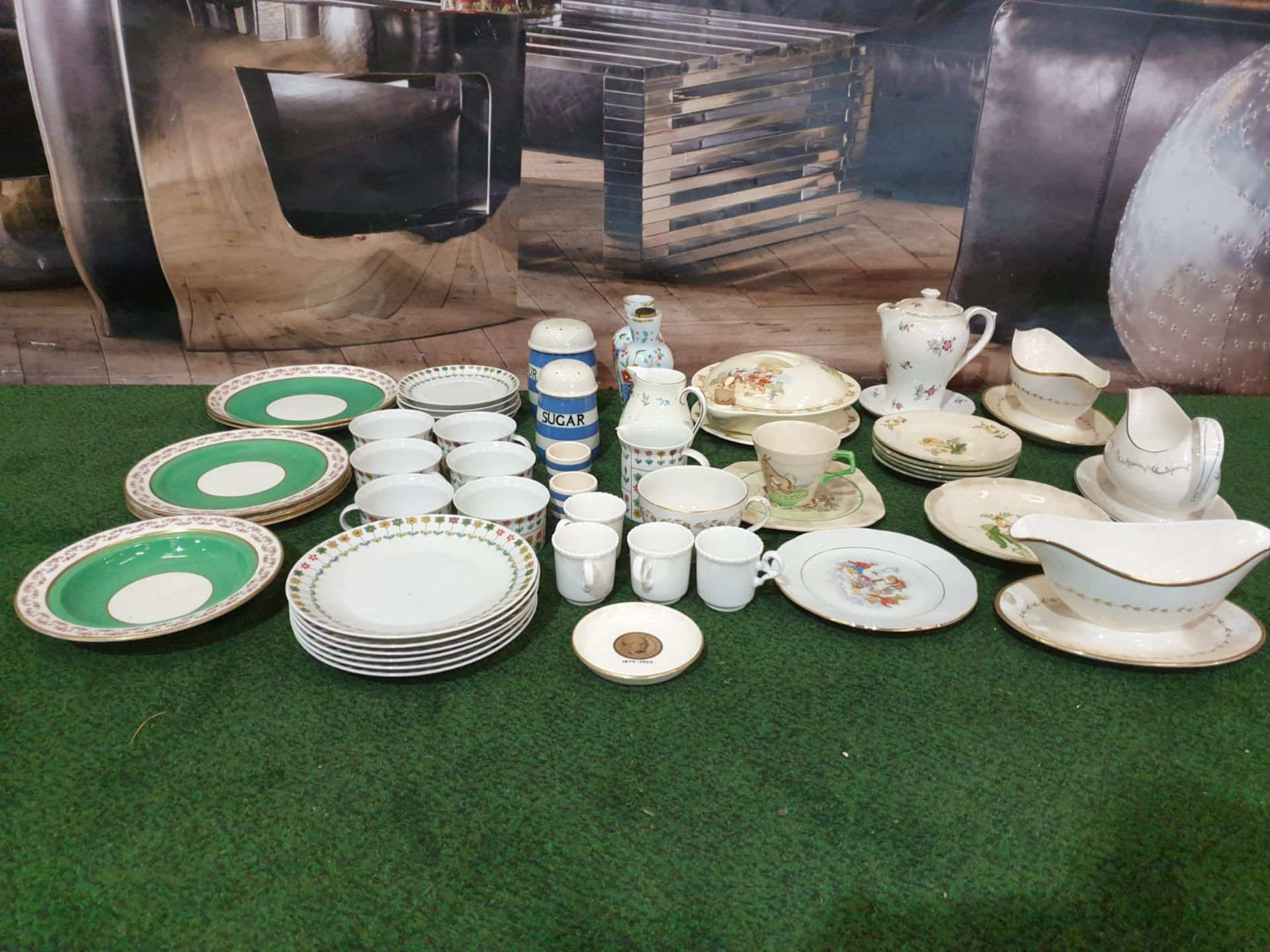A Large quantity of tableware various patterns and manufacturers including Royal Doulton, Shelley, H - Image 2 of 15