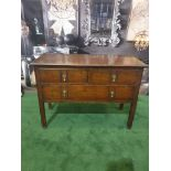 George III style Mahogany Chest of Drawers 2 small drawers over full size single drawer 107w x 47D x
