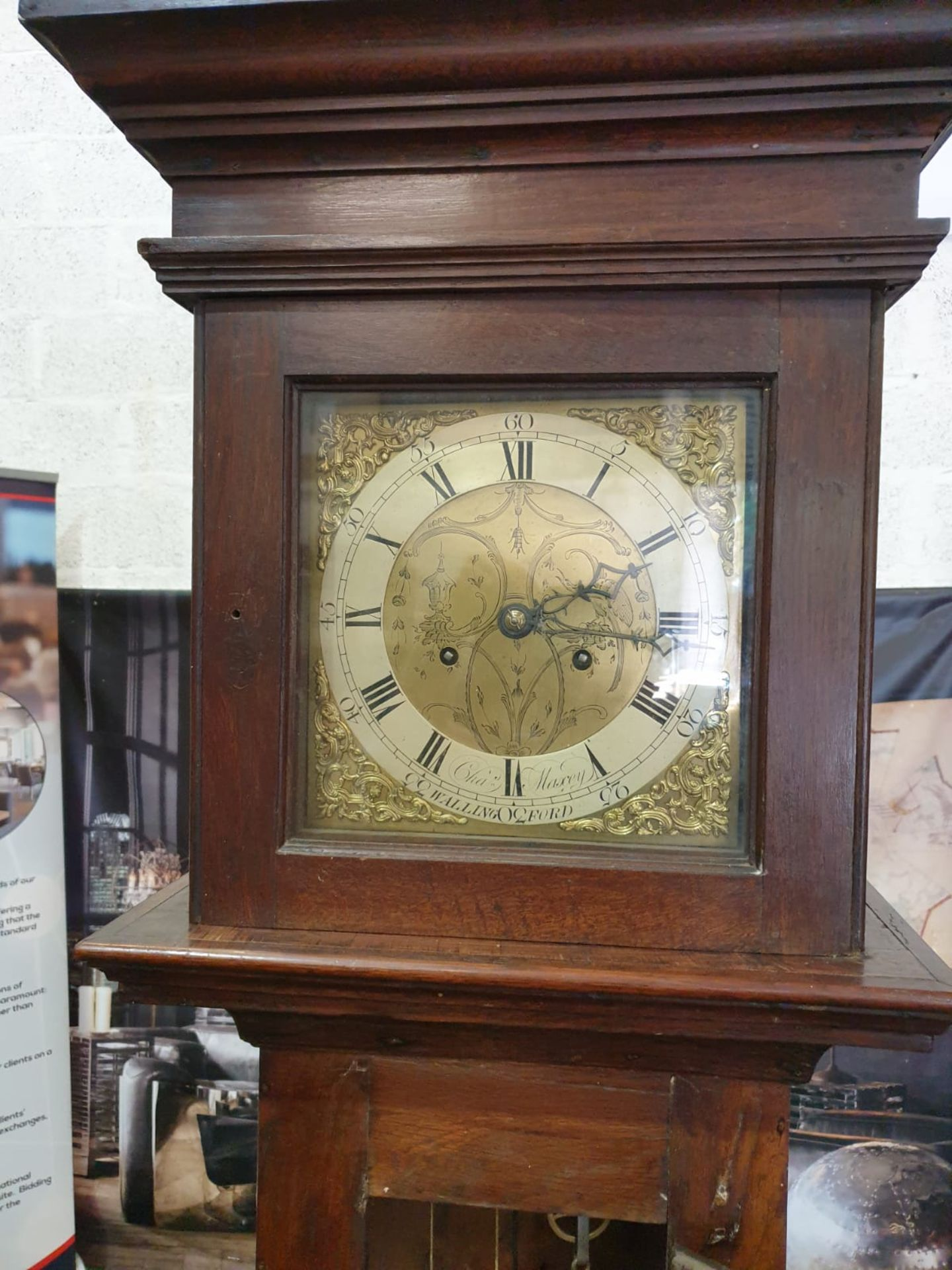 Provincial, mahogany or mahoganized oak, two weight, eight day time and hourly striking longcase - Image 3 of 8