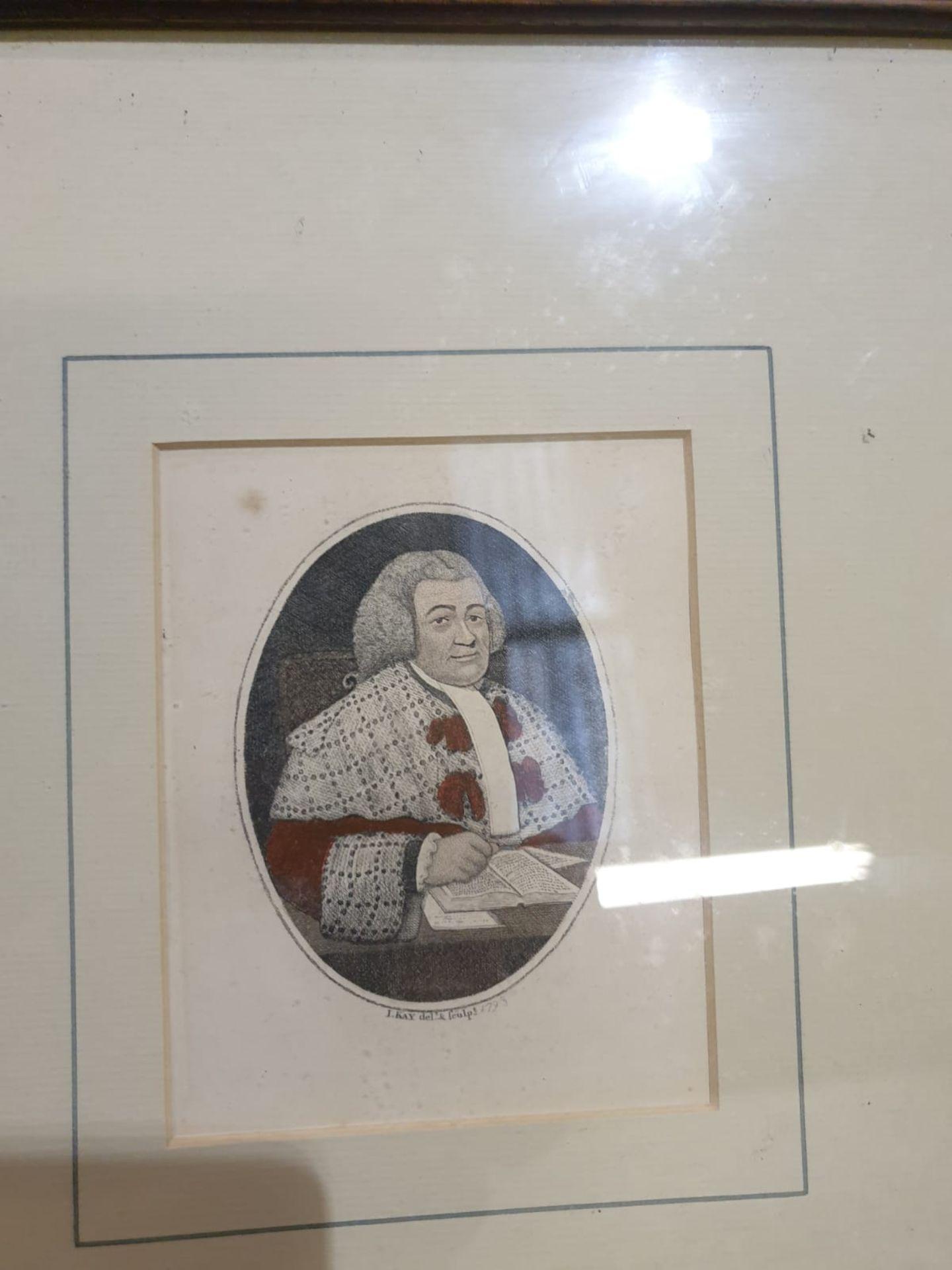 A set of 4 framed John Kay coloured prints of etchings Law gentlemen Lord Balmuto by John Kay, 1799, - Image 2 of 5