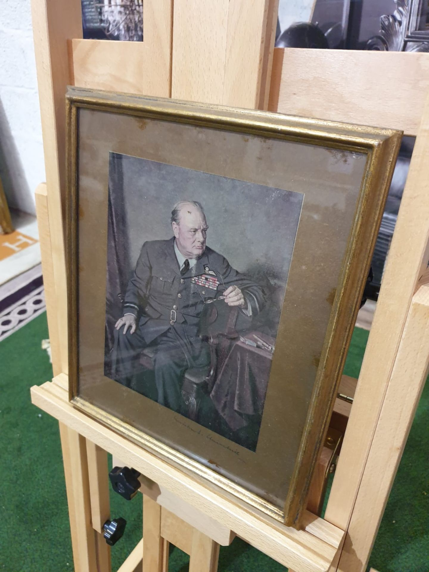 After Douglas Granville Chandor. Sir Winston Churchill in the uniform of Marshal of the Royal Air - Image 2 of 4