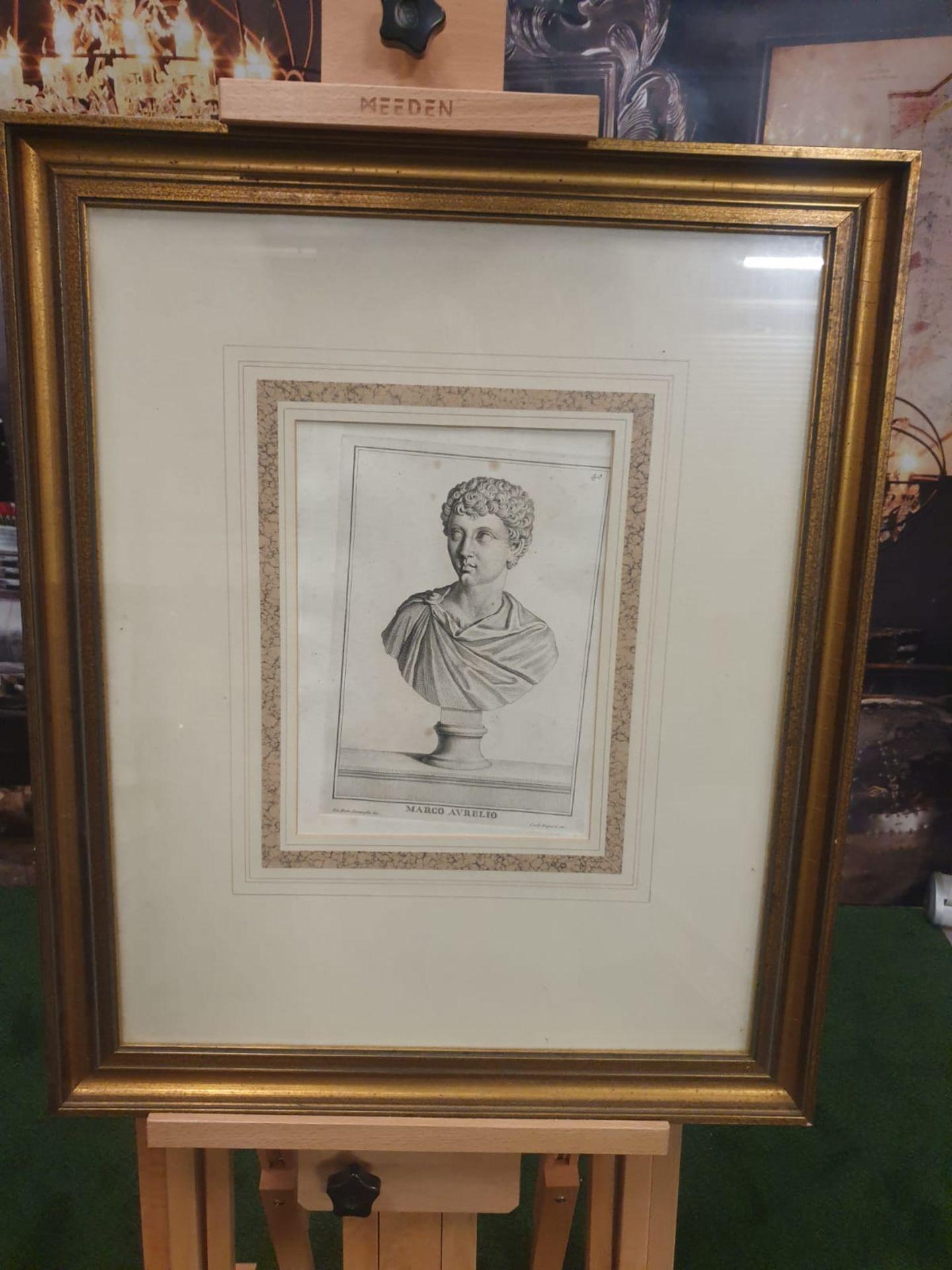 3 x framed prints comprising of Carlo Gregori after Giovanni Domenico Campiglia Galba, Roman - Image 2 of 5