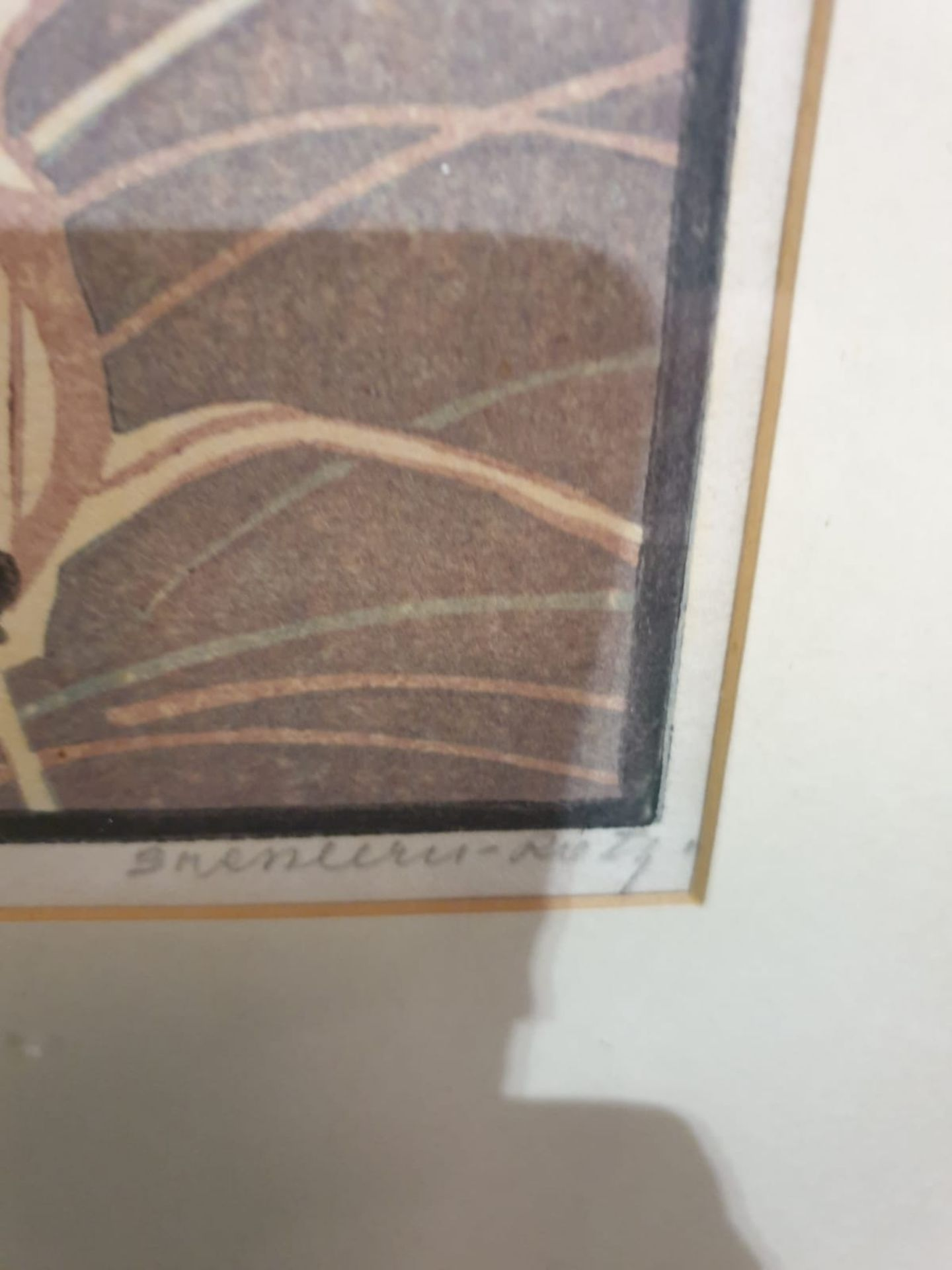 Line cut print multiple by Von Bresslern - Roth 1891-1978 tiger chasing Gazelles c. Circa 1920 - Image 4 of 6