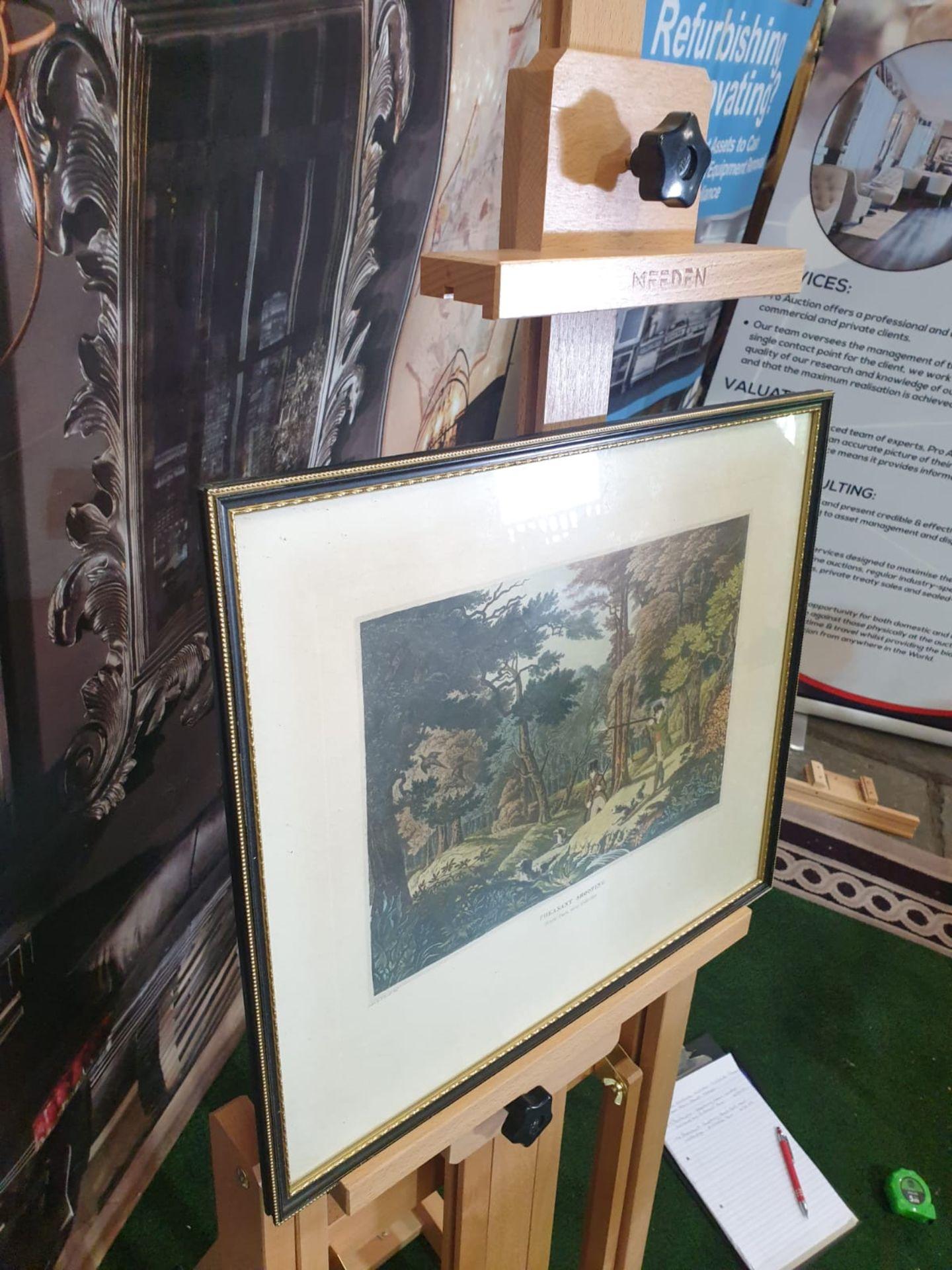 Framed vintage aquatint Pheasant Shooting. Black Park near Uxbridge. HAVELL Jr., Robert. - Image 3 of 6