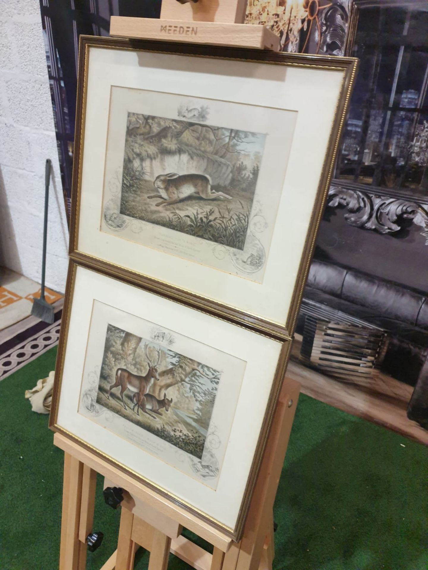 """2 x framed lithographic prints Running for """"A Ring"""" Lithograph, hand coloured, c. 1860. - Image 2 of 6"""