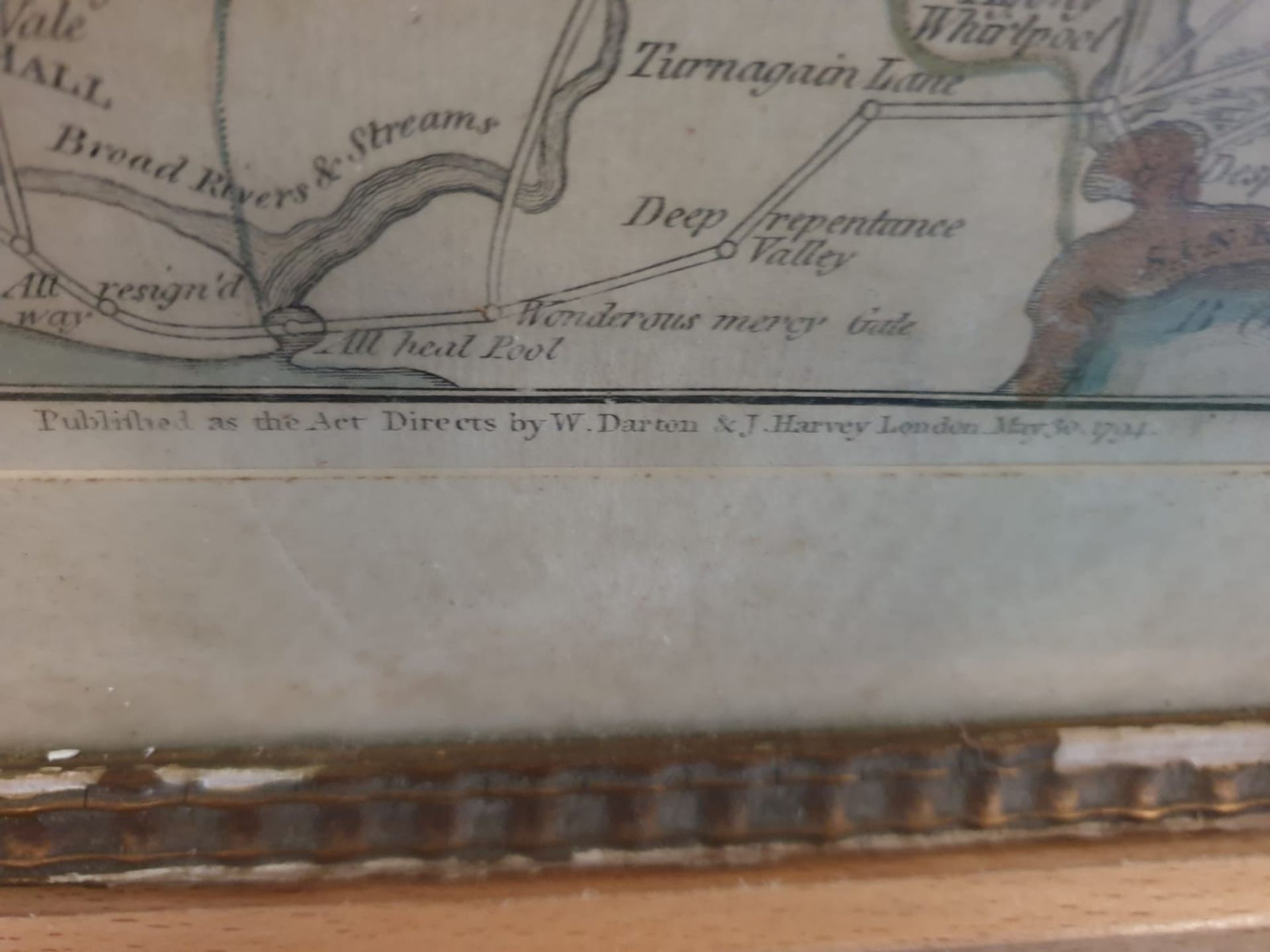 Framed An American Quaker Map's the Paths of Life Fascinating pictorial allegorical map, - Image 5 of 5