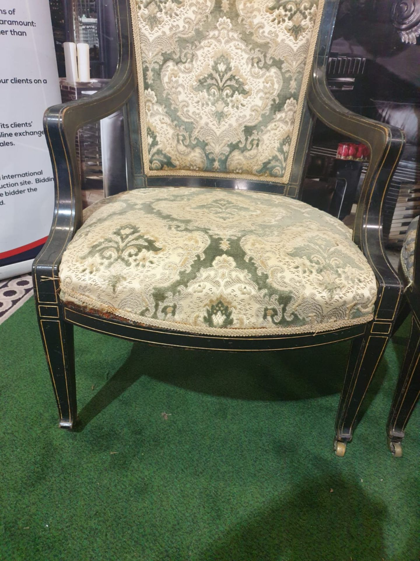A set of 3 x George III/Neoclassical Style Carver Chairs. Most likely produced during the - Image 2 of 3