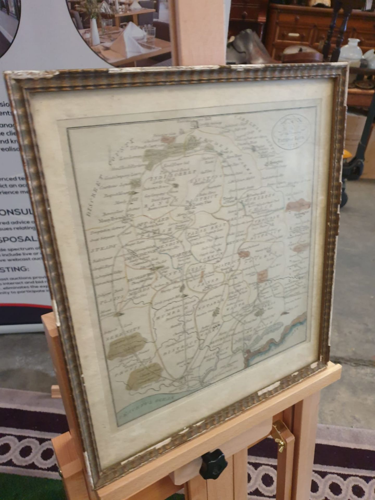 Framed An American Quaker Map's the Paths of Life Fascinating pictorial allegorical map, - Image 3 of 5