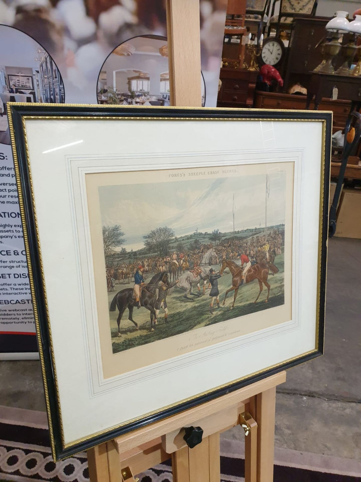 """Framed Hand coloured engravings from a series called """"Fores's Hunting Casualties"""".Drawn by H. - Image 3 of 6"""