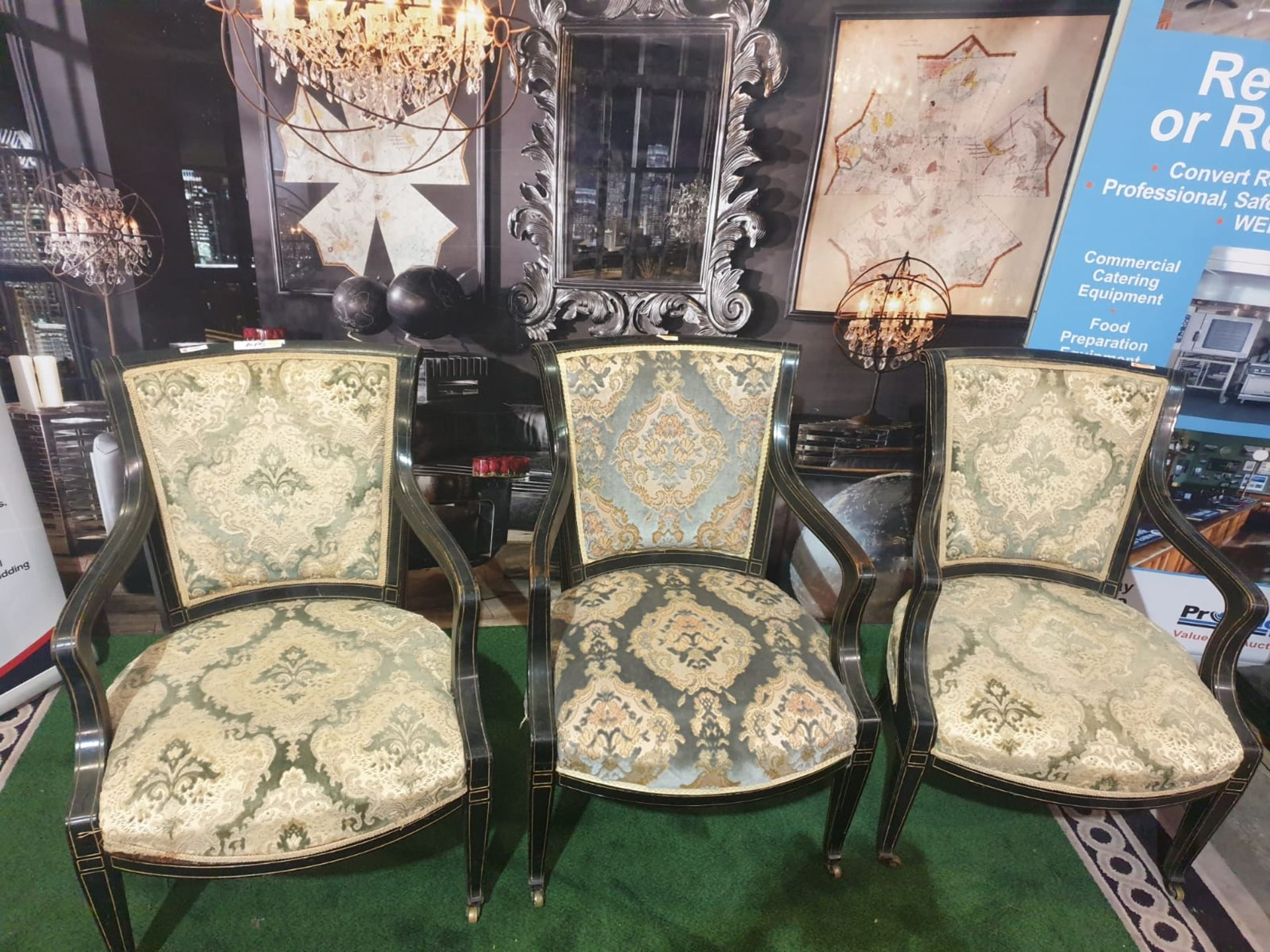 A set of 3 x George III/Neoclassical Style Carver Chairs. Most likely produced during the - Image 3 of 3