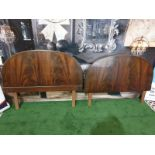 A burr Mahogany headboard & footboard for a single bed
