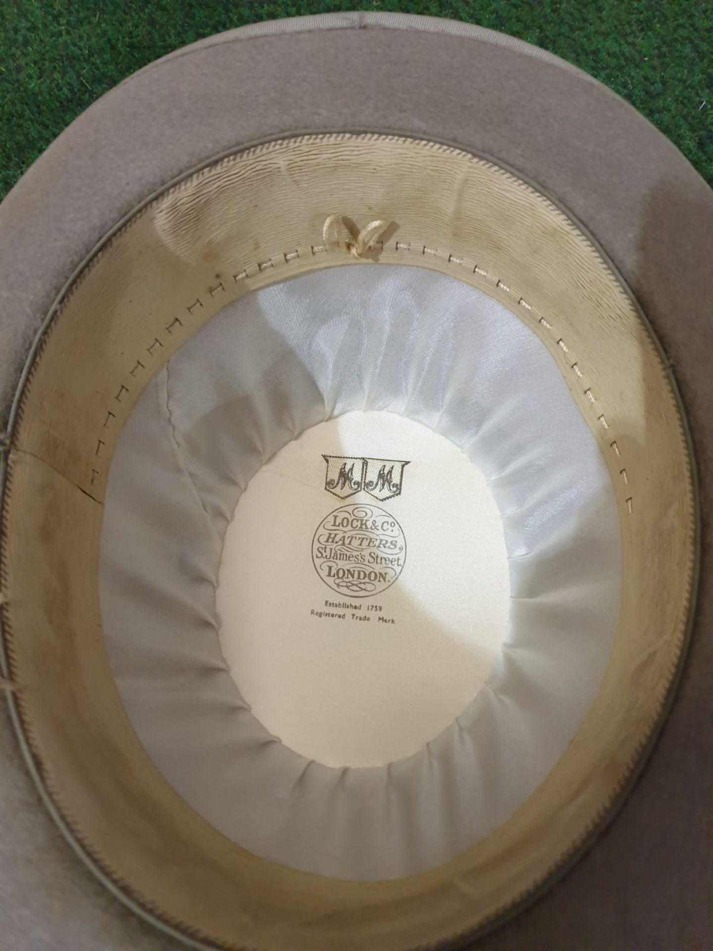 Walter Barnard & Son of Jermyn Street London Grey Bowler hat with cardboard box - Image 3 of 4