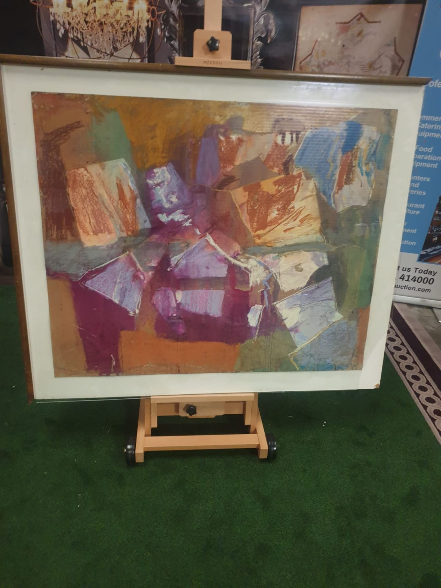 Tamsen Louise Croft - Treikcliff 1991 framed Mixed media on paper label verso reads purchased - Image 2 of 5