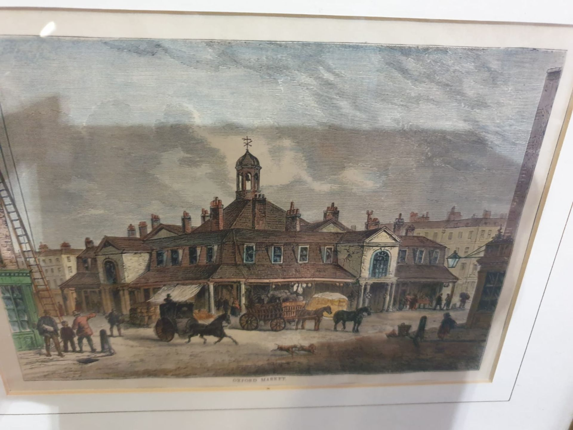A set of 2 framed coloured lithographs APSLEY HOUSE AND PARK LANE. HYDE PARK CORNER IN 1750. - Image 4 of 5