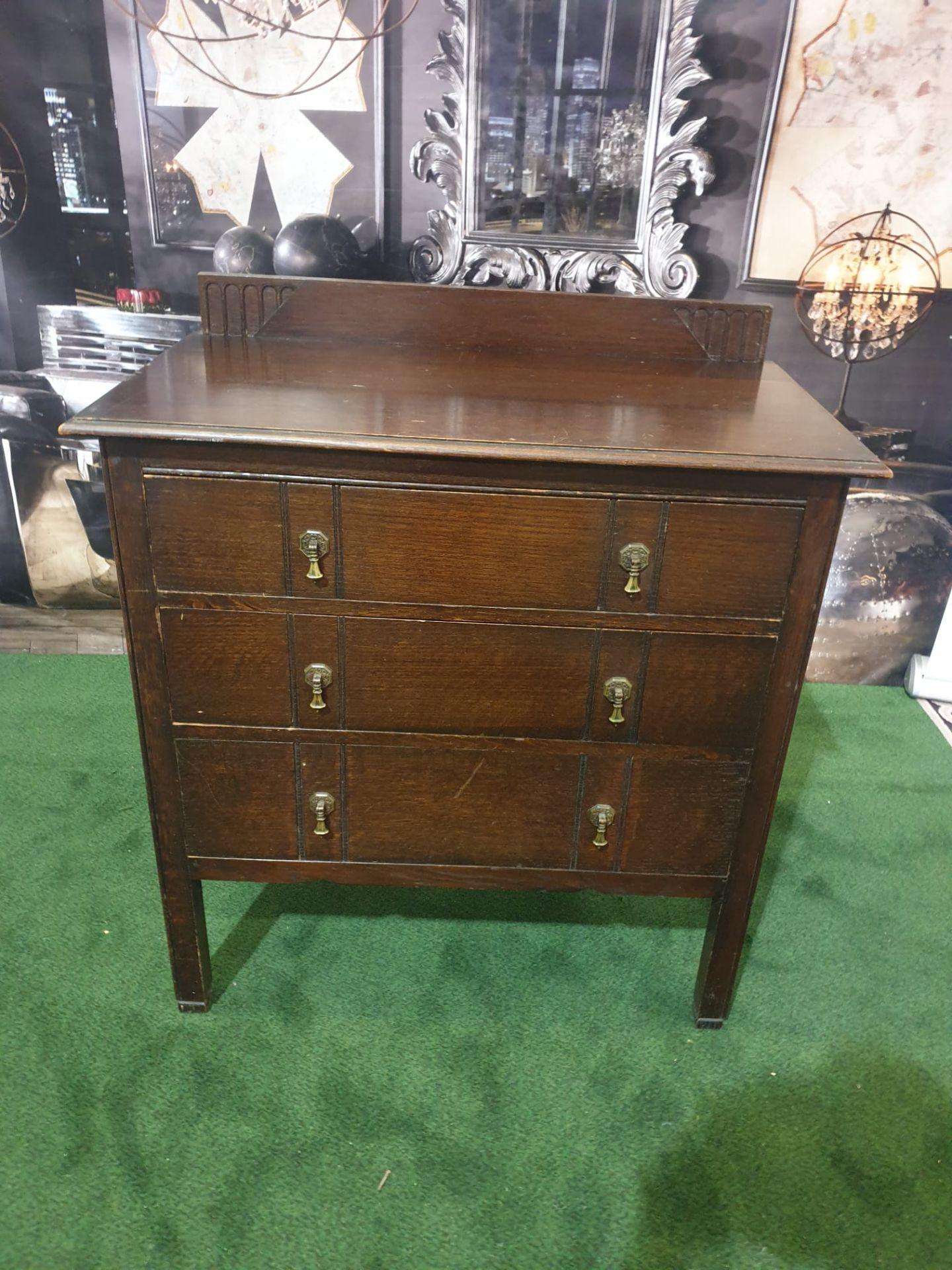 Late Georgian Mahogany Chest Of Drawers three Drawer chest 84W x 46D x 95H