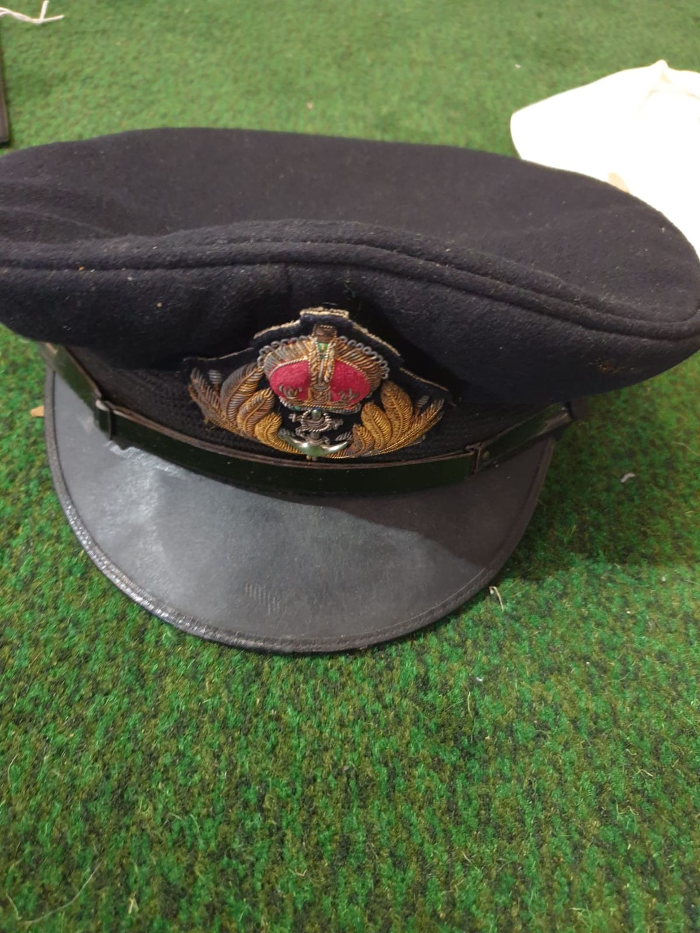 A Lock & Co London Naval peak cap and a Hunters Top hat by Harman & Son Hatters, 87 New Bond - Image 2 of 4