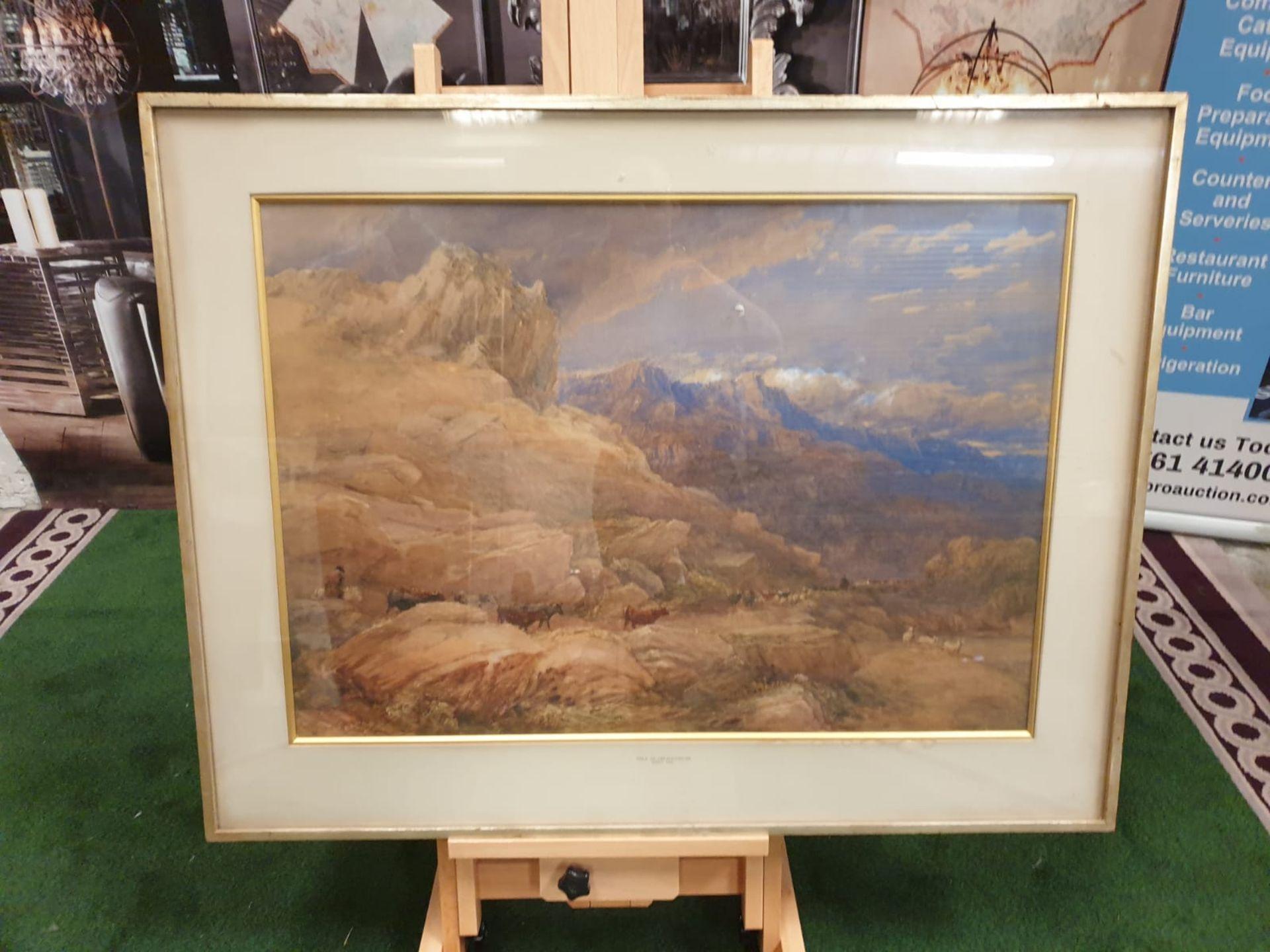 Framed print The Vale of Dolwyddelan David Cox Date: 1846 David Cox (29 April 1783 – 7 June