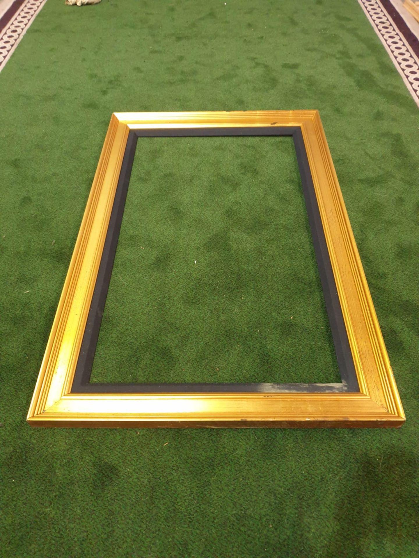 Gilt picture frame 97 x 150cm