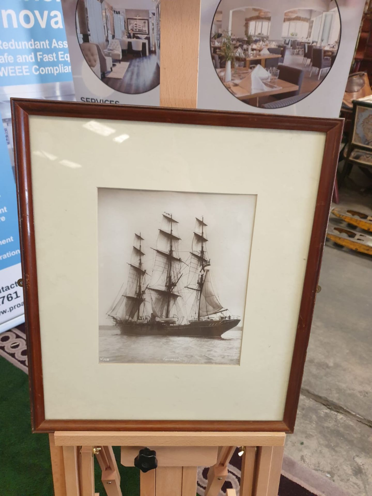 Sailing vessel Valhalla. Photograph. Initialled and numbered lower left, titled to the centre and - Image 4 of 4