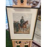 Framed Coloured Print Portrait Of The Honourable Charles Hugh Lindsay Major Commandant Of The St