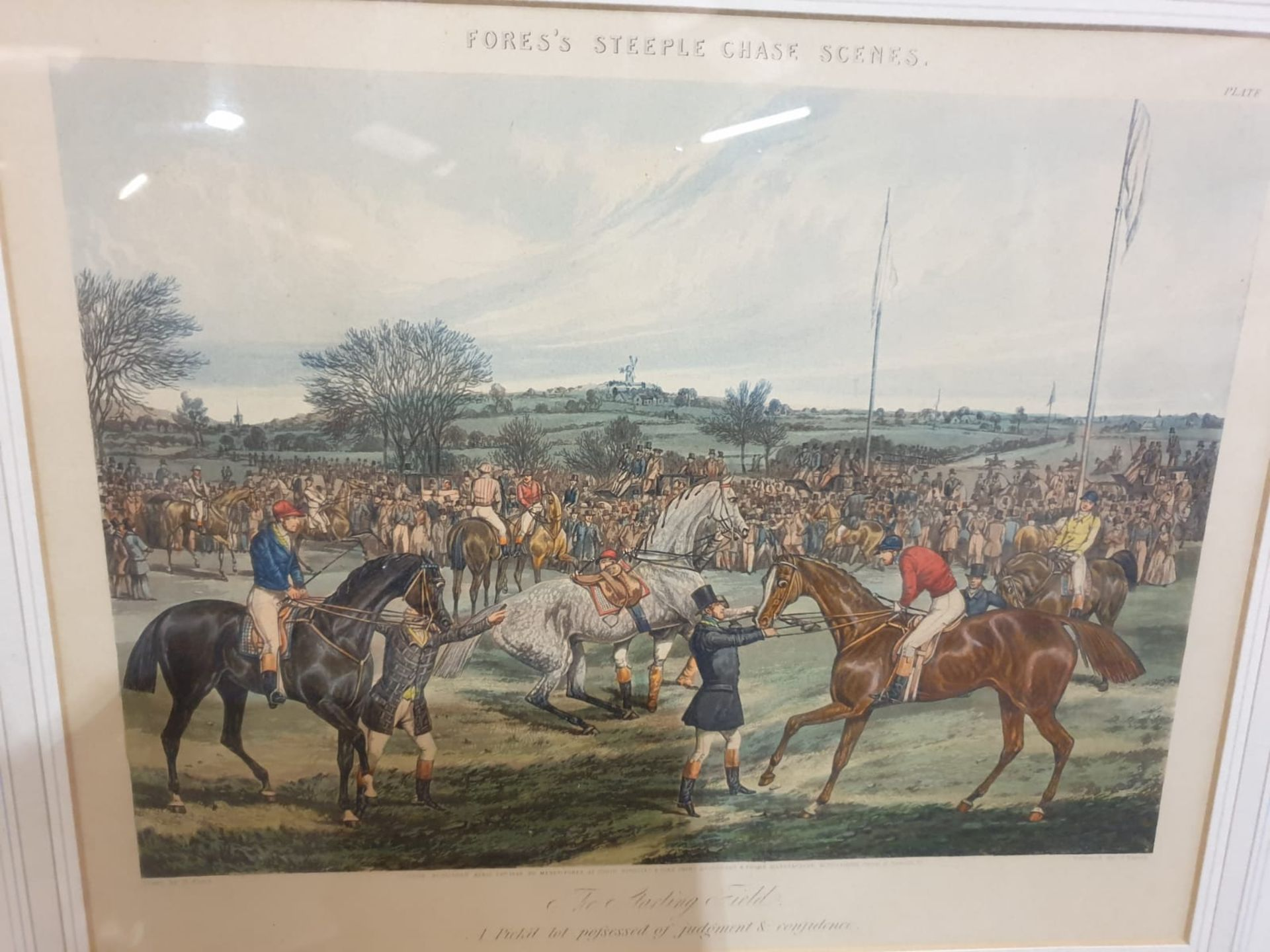 """Framed Hand coloured engravings from a series called """"Fores's Hunting Casualties"""".Drawn by H. - Image 6 of 6"""