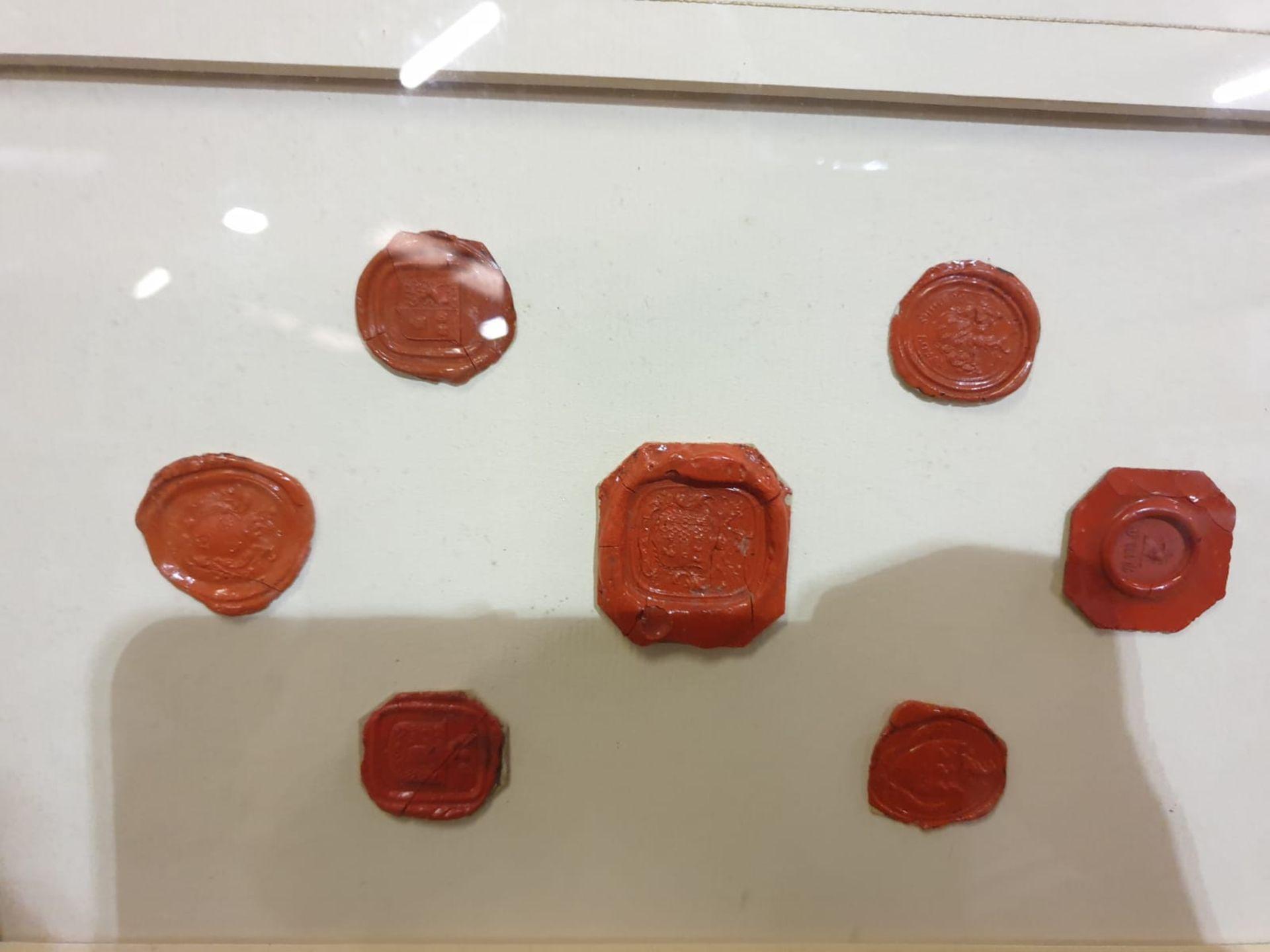 Framed artwork of wax Seals in Wood frame 42 x 32cm - Image 4 of 4