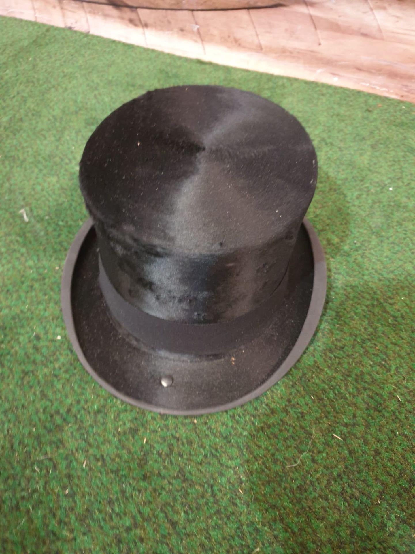 A James Lock + Co. Silk Black Top hat with original card box