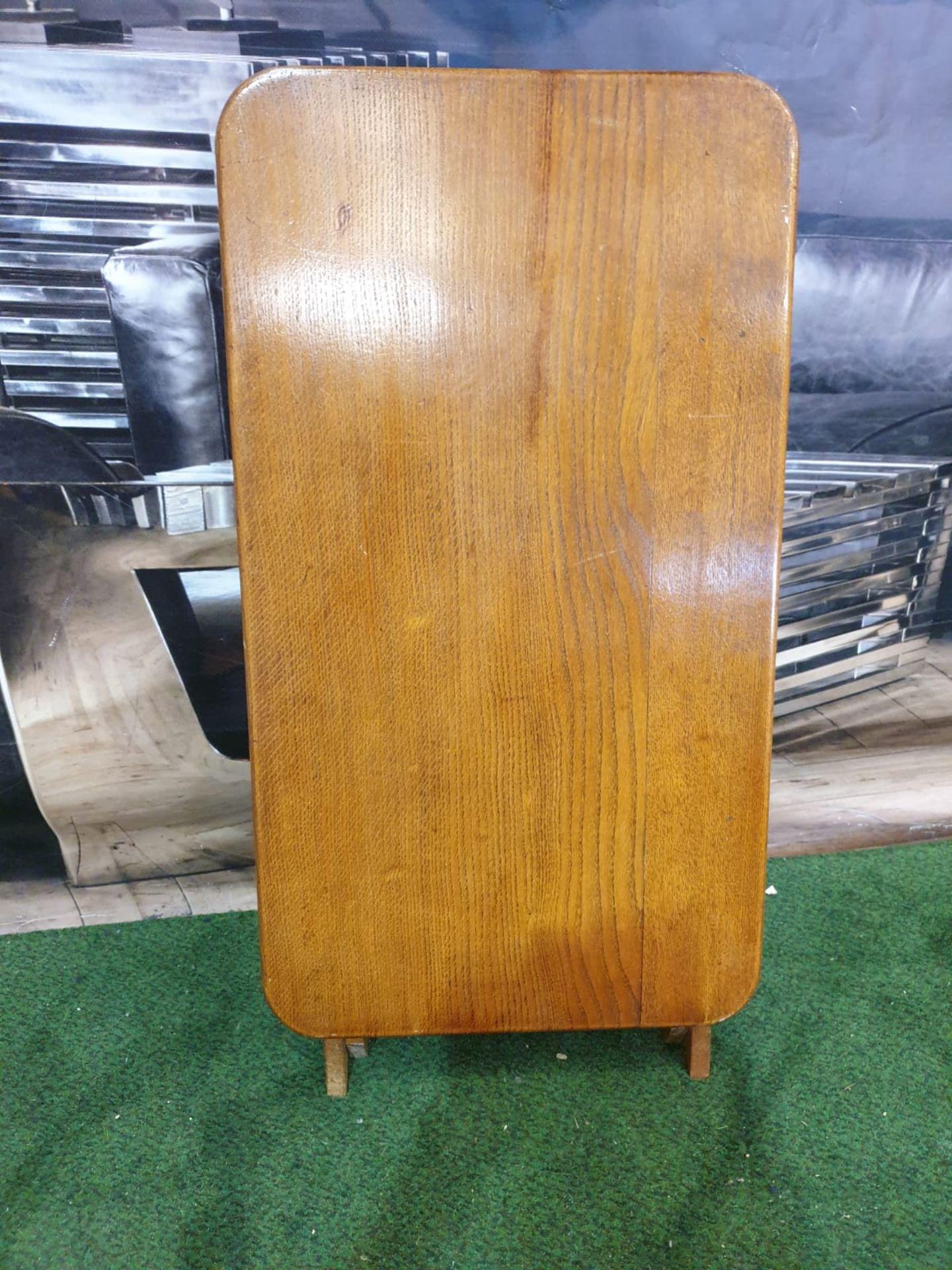 A polished teak folding table 71 x 40 x 4cm - Image 5 of 5