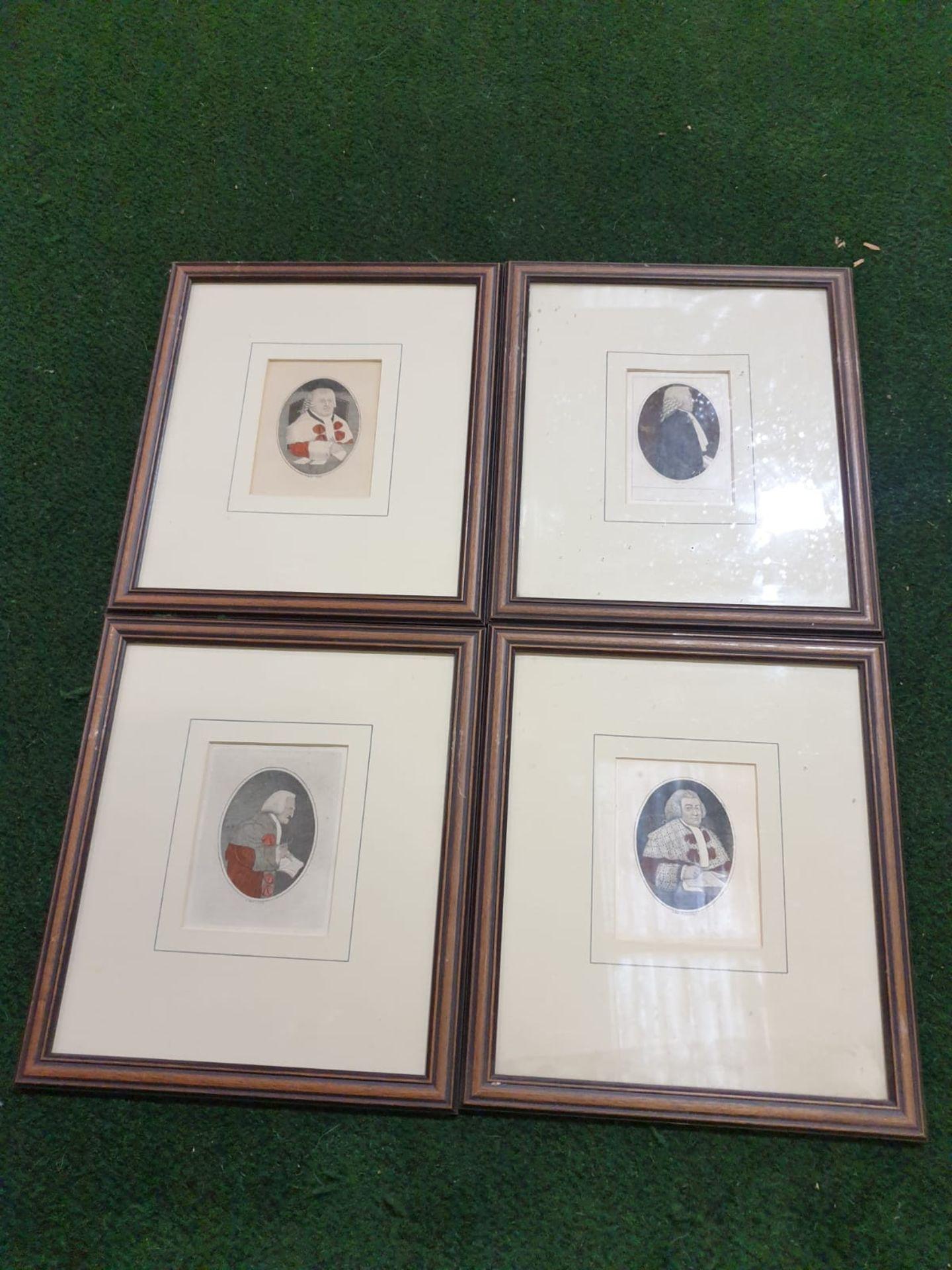 A set of 4 framed John Kay coloured prints of etchings Law gentlemen Lord Balmuto by John Kay, 1799,