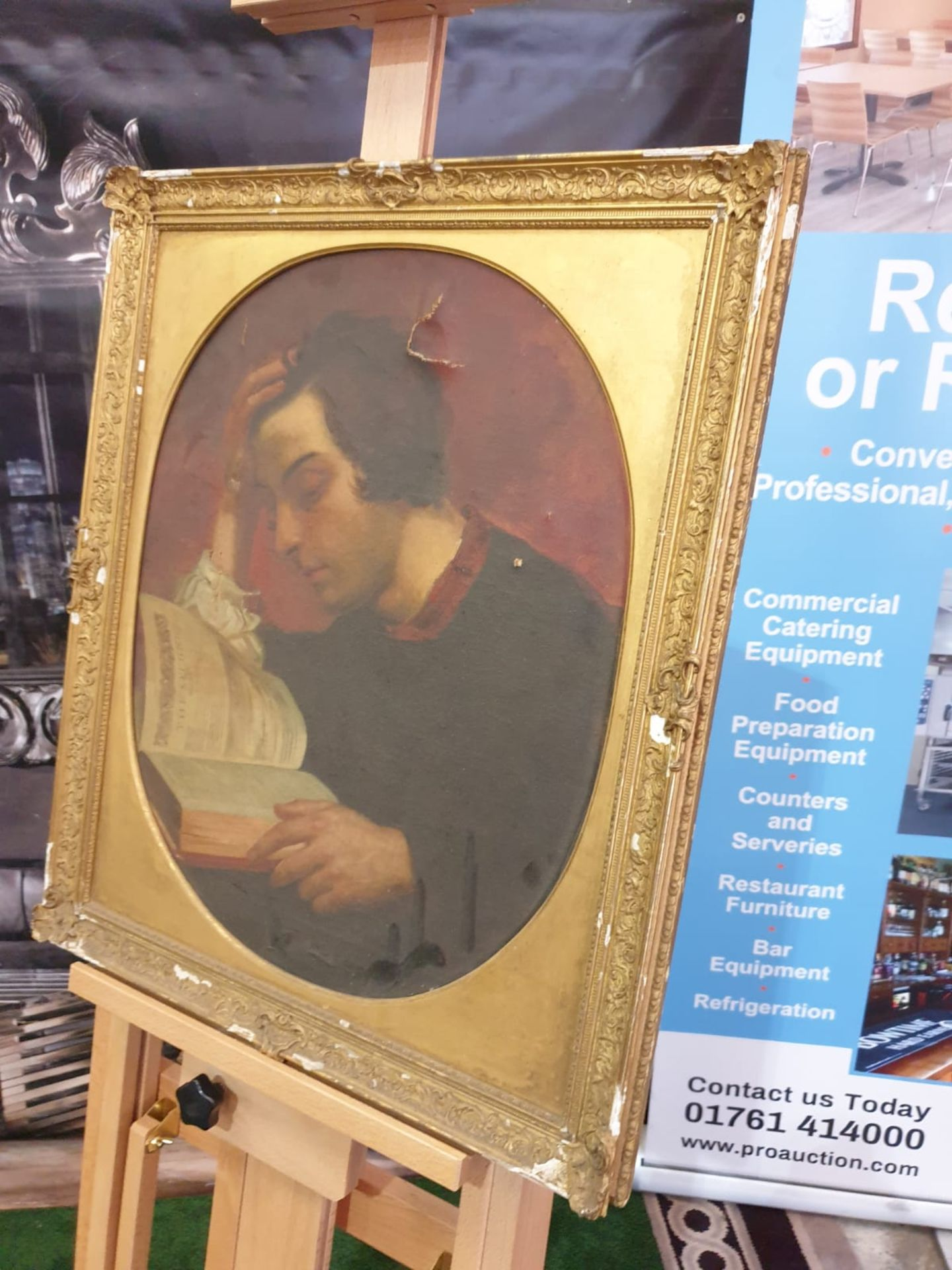 Portrait of a Man Reading a Book Unknown artist Portrait of a Man Reading a Book Oil on canvas Not