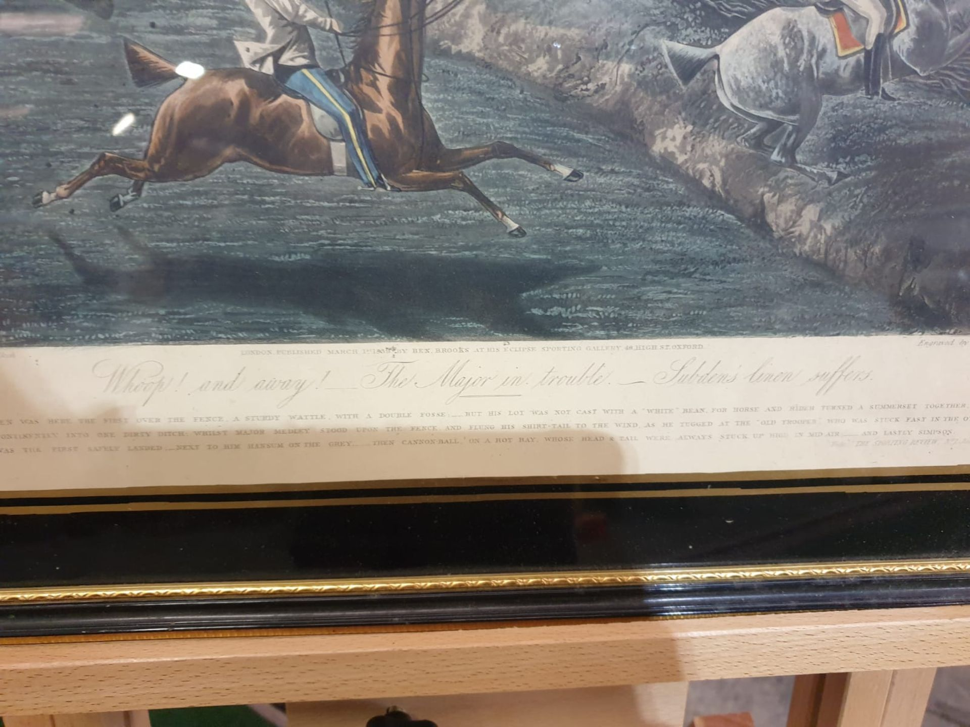 Framed vintage print The First Steeplechase on Record - The large field near Biles's corner (after - Image 5 of 5