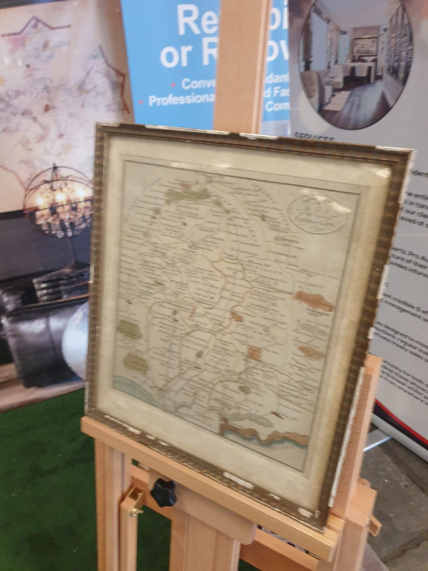 Framed An American Quaker Map's the Paths of Life Fascinating pictorial allegorical map, - Image 4 of 5