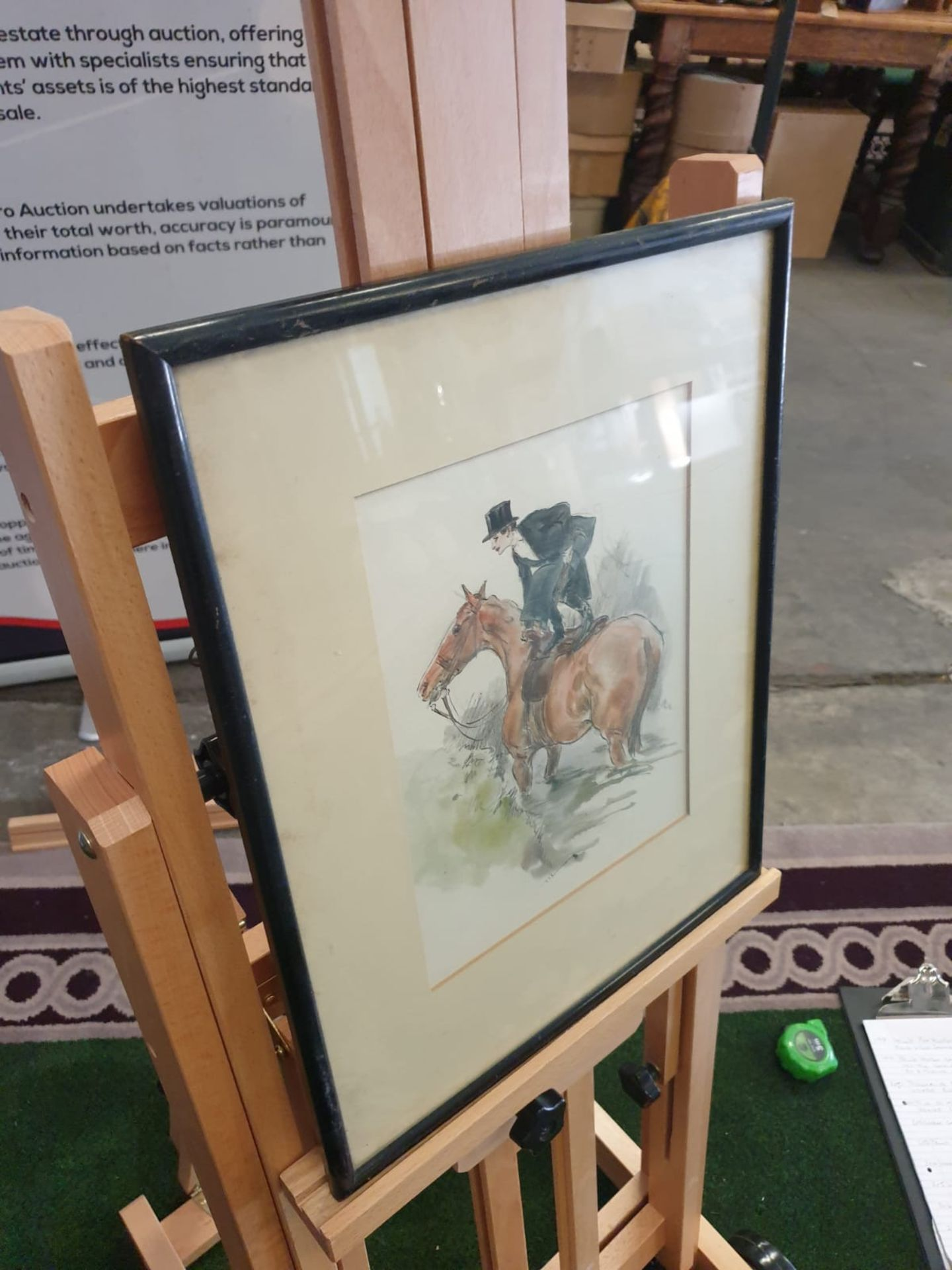 Framed watercolour Early 20th century British school Abandon ship, preparing to dismount! - Image 3 of 3