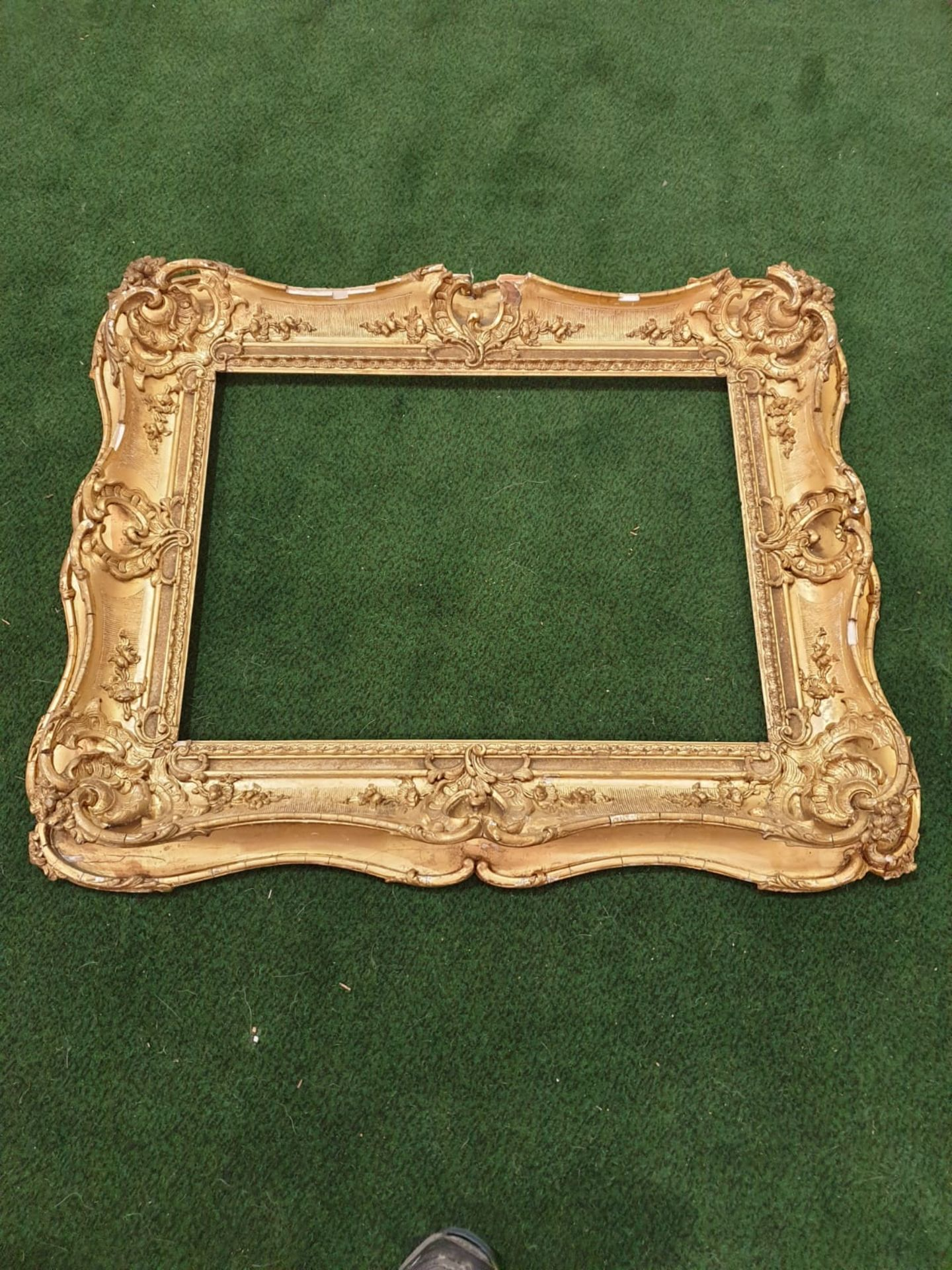 Gesso picture frame 89 x 75cm