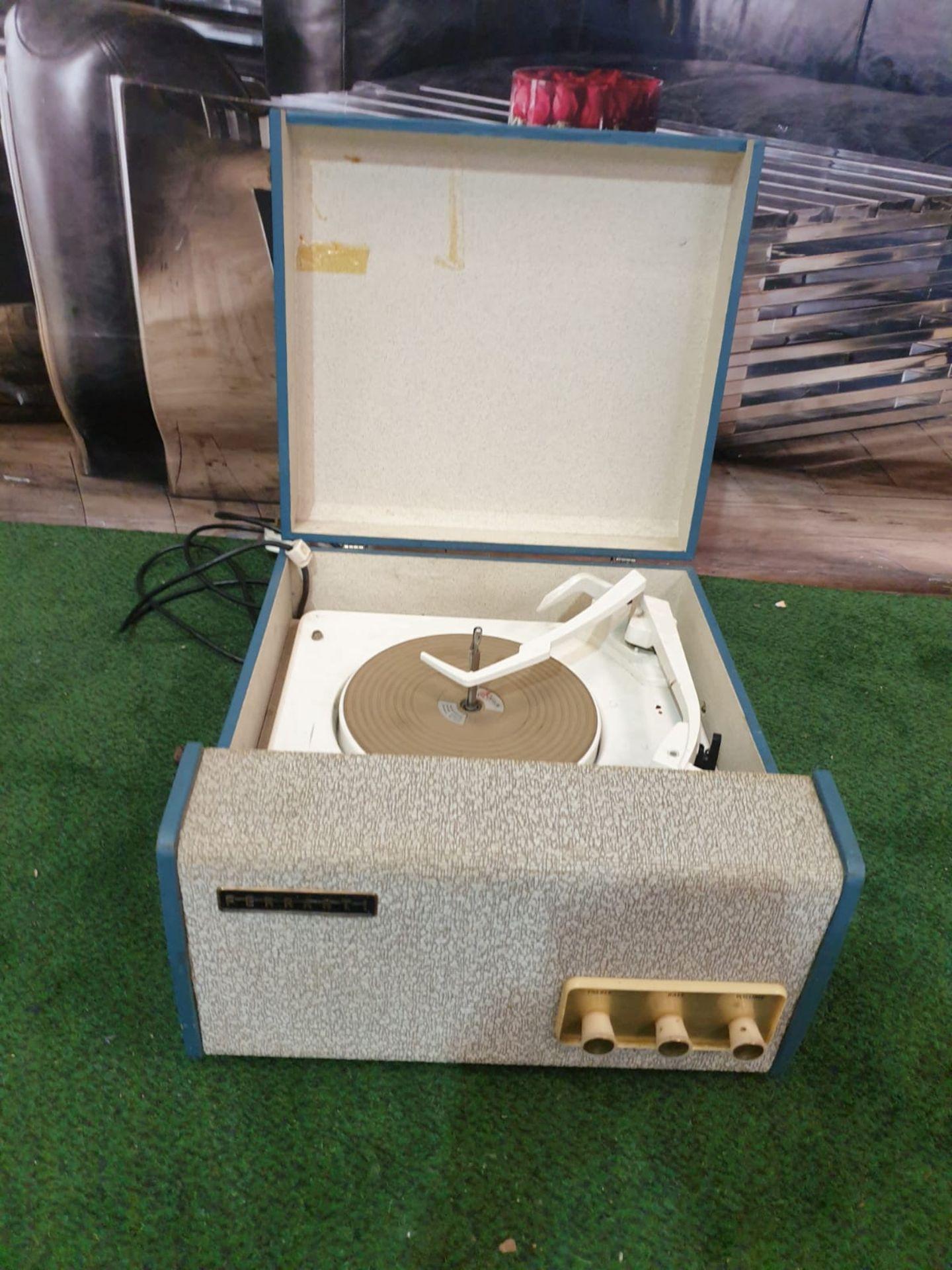 Travel record Player Blue Case Made By Ferranti Circa 1958 Ferranti or Ferranti International plc