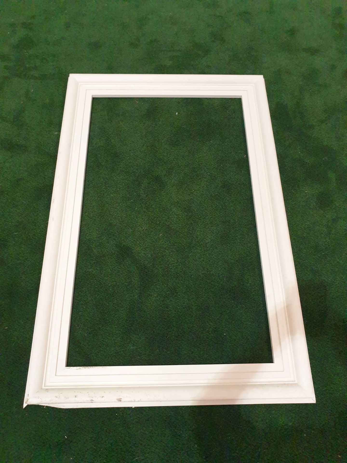 White picture frame 98 x 148cm - Image 2 of 4