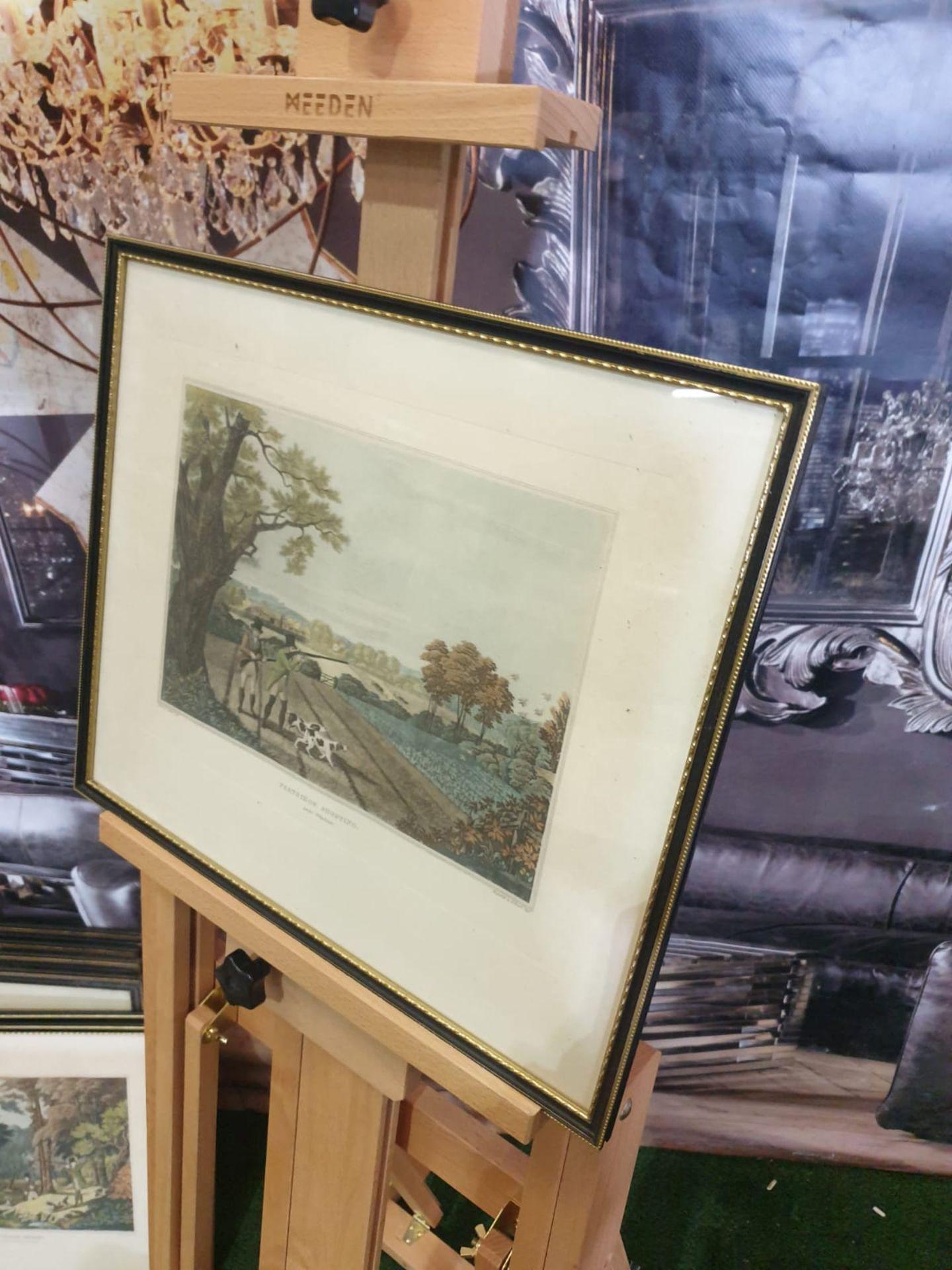 Framed vintage aquatint Partridge shooting near Windsor. HAVELL Jr., Robert. Publisher: J Brooker - Image 5 of 5