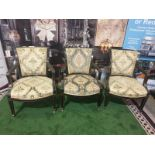 A set of 3 x George III/Neoclassical Style Carver Chairs. Most likely produced during the